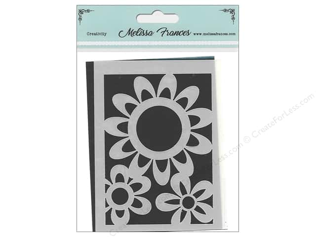 Melissa Frances Stencil 3 in. x 4 in. Flower Power 1