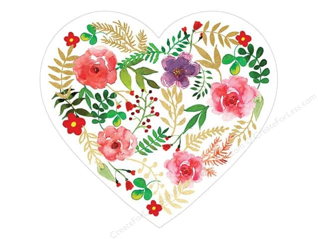 Paper House Die Cut Card Floral Heart
