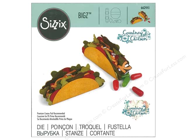 Sizzix Dies Courtney Chilson Bigz Mini Taco Box