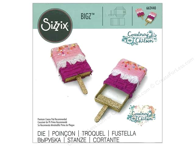 Sizzix Dies Courtney Chilson Bigz Mini Ice Pop Box
