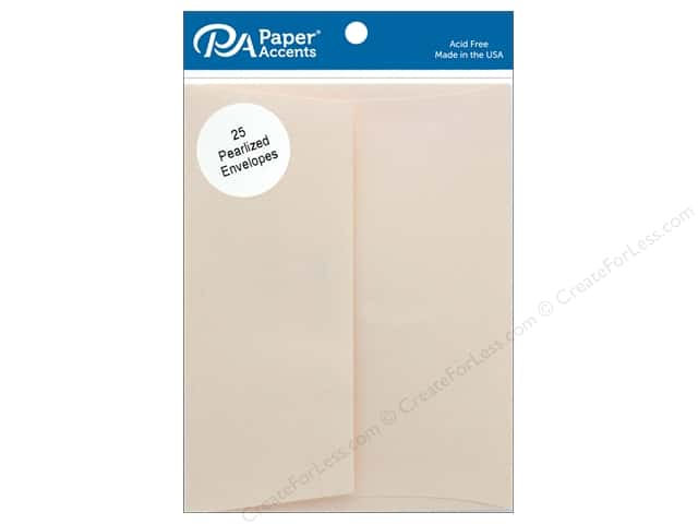 Paper Accents Envelope 4.38 in. x 5.75 in. Pearlized Cornsilk 25 pc