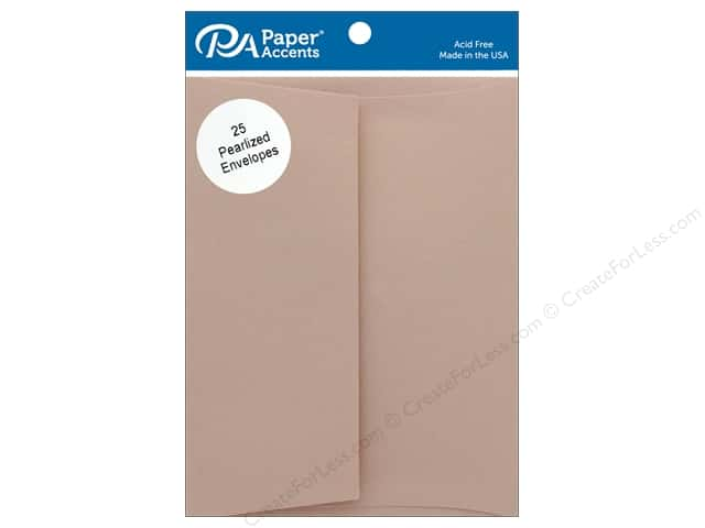 Paper Accents Envelope 4.38 in. x 5.75 in. Pearlized Rose Gold 25 pc