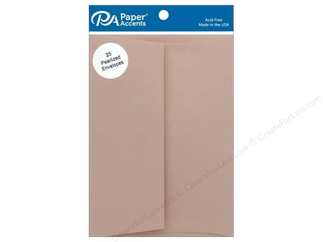 Paper Accents Envelope 5.25 in.x 7.25 in. Pearlized Rose Gold 25 pc