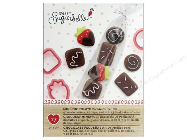 American Crafts Sweet Sugarbelle Cookie Cutter Kit Mini Chocolate