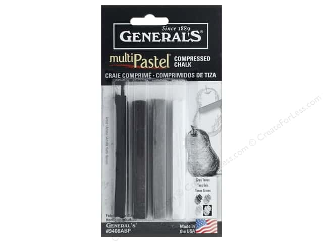 General's Multi Pastel Chalk Crayon Set Gray Tones (6 sets)