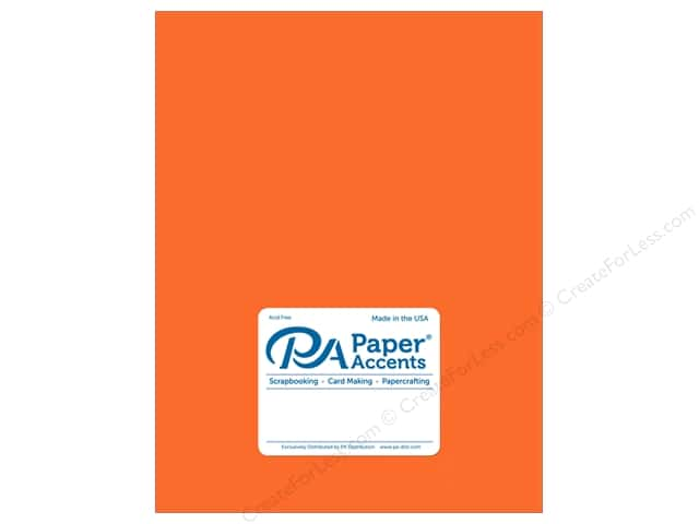 Paper Accents Cardstock  8.5 in. x 11 in. Pearlized 105 lb Saffron (25 sheets)