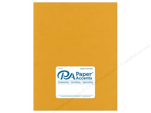 Paper Accents Cardstock  8.5 in. x 11 in. Pearlized 111 lb 24 kt Gold (25 sheets)