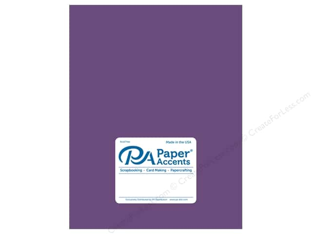 Paper Accents Cardstock  8.5 in. x 11 in. Pearlized 111 lb Blackberry Cordial (25 sheets)
