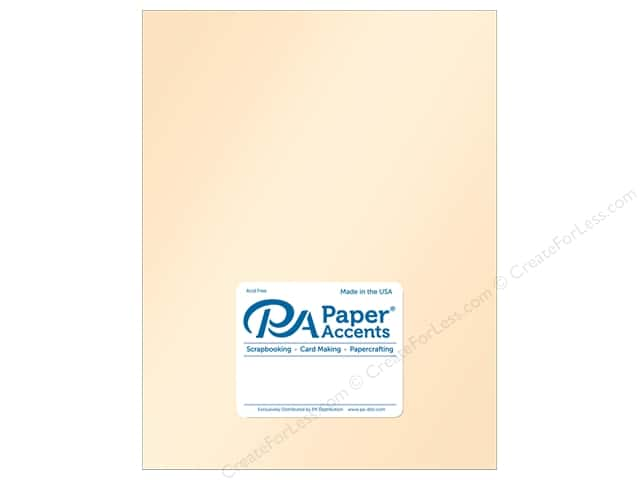 Paper Accents Cardstock  8.5 in. x 11 in. Pearlized 105 lb Cameo (25 sheets)