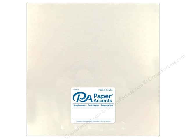 Paper Accents Cardstock 12 in. x 12 in. Pearlized 92 lb White Gold (25 sheets)