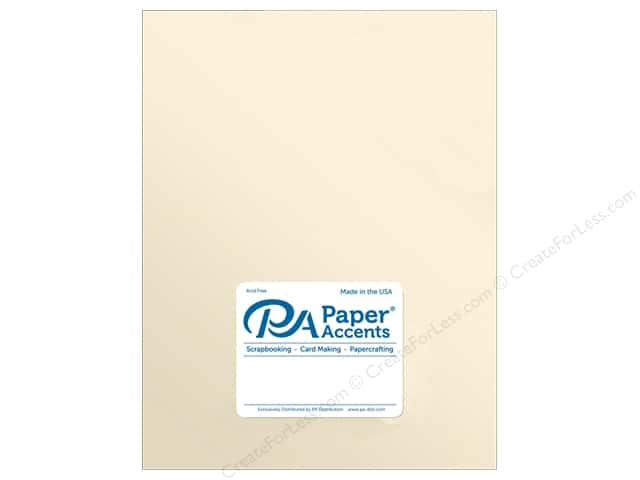 Paper Accents Cardstock 8.5 in. x 11 in. Pearlized 107 lb Champagne (25 sheets)
