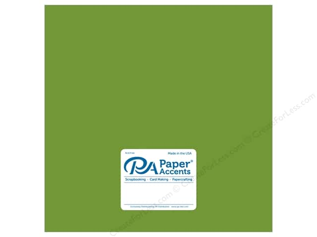 Paper Accents Cardstock 12 in. x 12 in.  Pearlized 105 lb Lime Rickey (25 sheets)