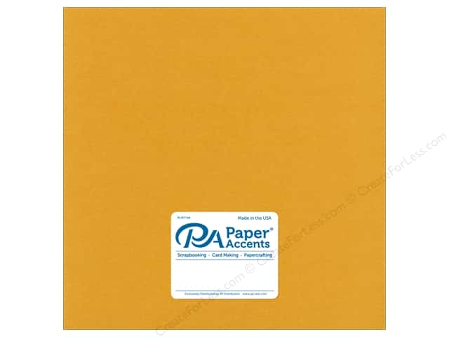 Paper Accents Cardstock 12 in. x 12 in.  Pearlized 111 lb 24 kt Gold (25 sheets)