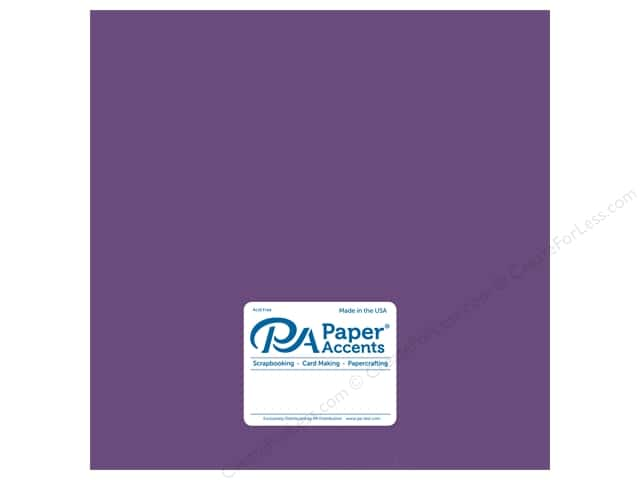 Paper Accents Cardstock 12 x 12 in. Pearlized Blackberry Cordial (25 sheets)