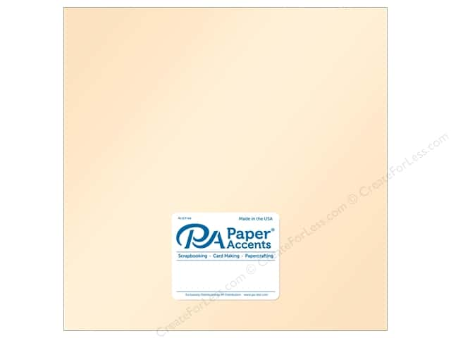 Paper Accents Cardstock 12 in. x 12 in. Pearlized 105 lb Cameo (25 sheets)