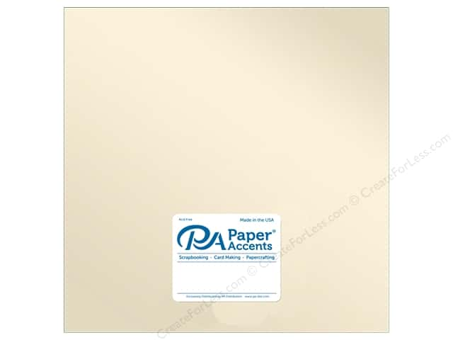 Paper Accents Cardstock 12 in. x 12 in. Pearlized 107 lb Champagne (25 sheets)