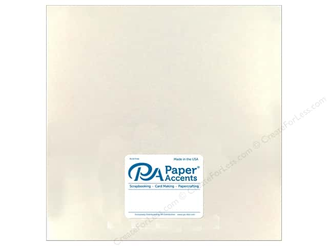 Paper Accents Pearlized Paper 12 x 12 in. White Gold 25 pc.