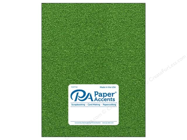 Paper Accents Glitter Cardstock 8.5 in. x 11 in.  85 lb Kiwi Green 5 pc