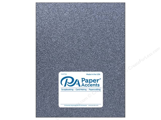 Paper Accents Glitter Cardstock 8 1/2 in. x 11 in. 85 lb Onyx 5 pc