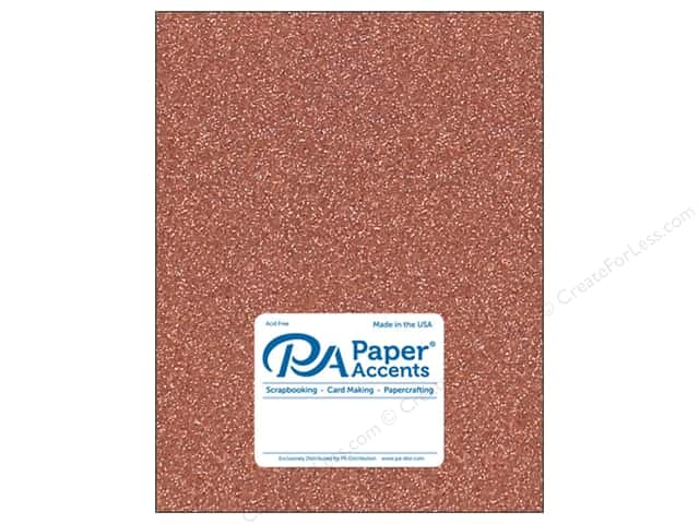 Paper Accents Glitter Cardstock 8.5 in. x 11 in. 85 lb Dark Copper 5 pc