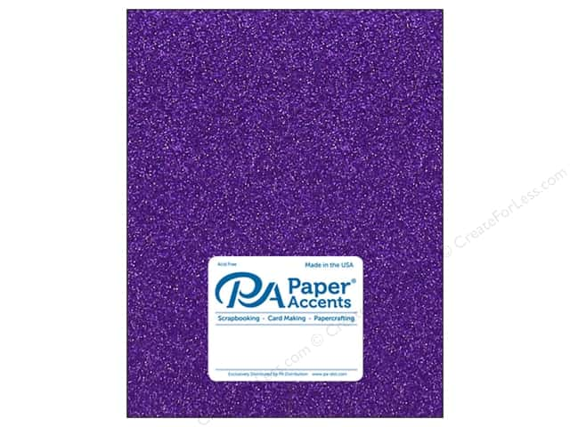 Paper Accents Glitter Cardstock 8.5 in. x 11 in.  85 lb Grape Jam 5 pc
