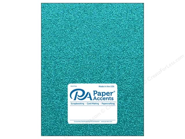 Paper Accents Glitter Cardstock 8.5 in. x 11 in. 85 lb Prussian Blue 5 pc