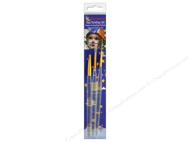Dynasty Brush Set 1 Face Paint Liner 1, Round 1, Shader 6