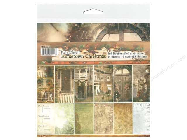 Contact Crafts Ken Oliver Hometown Christmas Paper Pad 6 in. x 6 in.