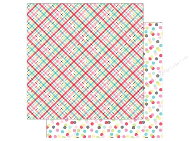 Doodlebug So Punny Paper 12 in. x 12 in. Plaid About You