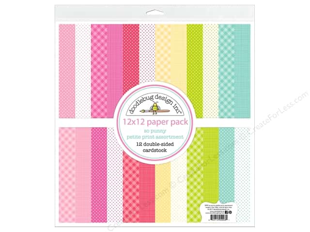 Doodlebug So Punny Paper Pack 12 in. x 12 in. Petite Print