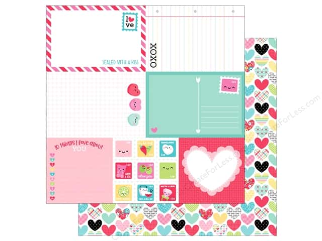 Doodlebug So Punny Paper 12 in. x 12 in. Work Of Heart (25 pieces)