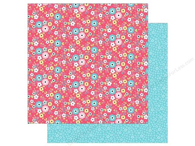 "Doodlebug So Punny Paper 12""x 12"" I'm Daisy For You (25 pieces)"
