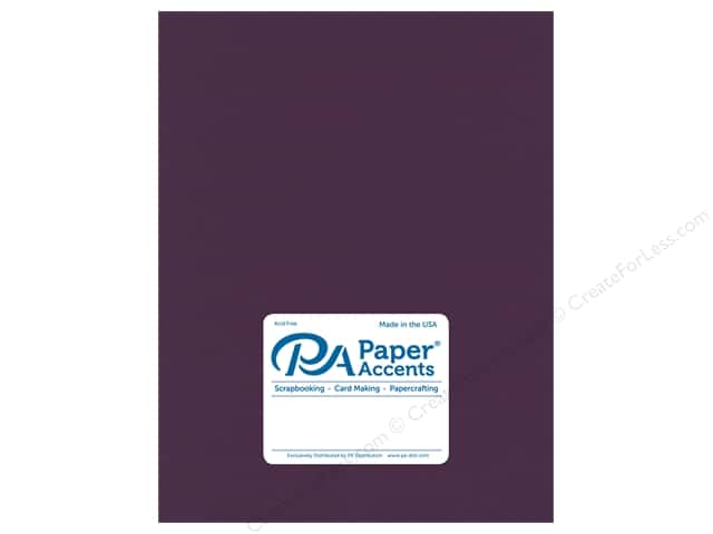 Paper Accents Cardstock 8.5 in. x 11 in.  Stash Builder 65 lb Royal Iris (25 sheets)