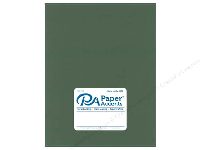 Paper Accents Cardstock 8.5 in. x 11 in. Pearlized 105 lb Moss (25 sheets)