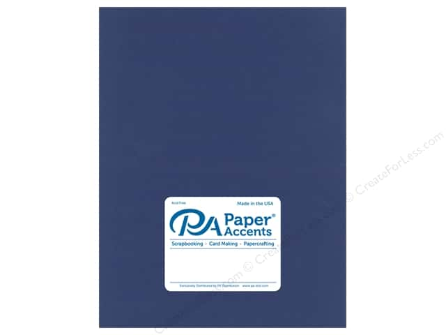 Paper Accents Cardstock 8.5 in. x 11 in.  Muslin 73 lb Indigo (25 sheets)