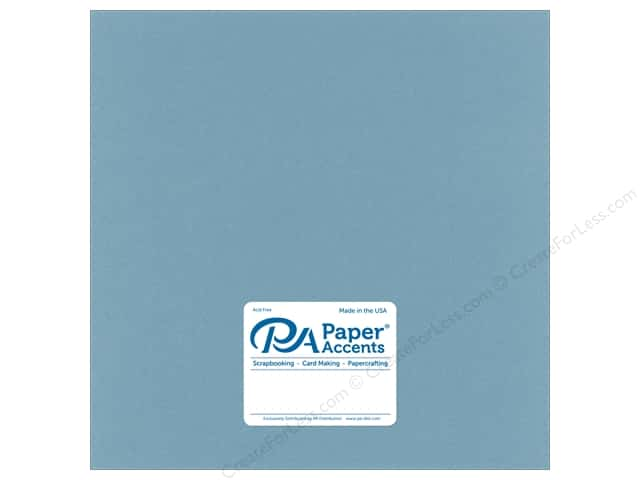 Paper Accents Cardstock 12 in. x 12 in. Smooth 65 lb Evening Surf (25 sheets)