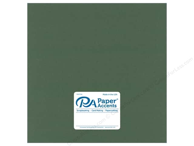 Paper Accents Cardstock 12 in. x 12 in. Pearlized 105lb Moss (25 sheets)