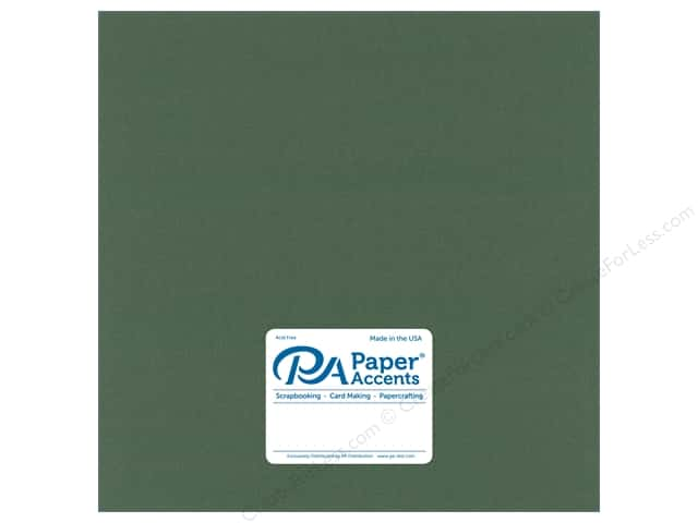 Paper Accents Paper Pearlized 12 in. x 12 in. 80 lb Moss (25 sheets)