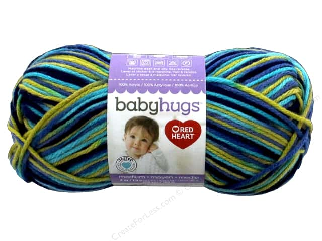 Red Heart Baby Hugs Medium Yarn 208 yd. #4955 Polywog