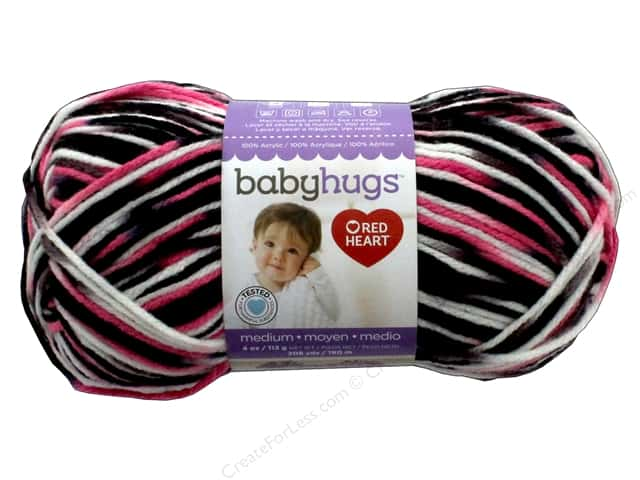 Red Heart Baby Hugs Medium Yarn 208 yd. #4956 Princess