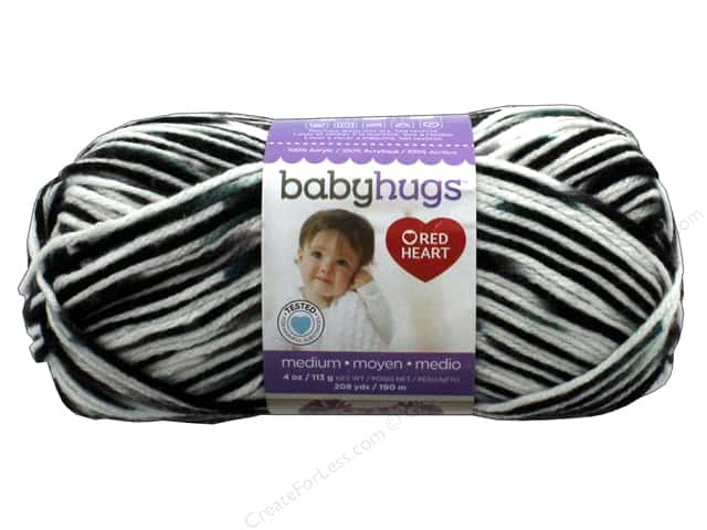 C&C Red Heart Baby Hugs Yarn Medium 4 oz Outerspace