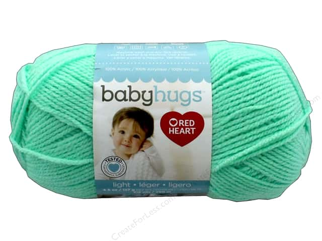 C&C Red Hear Baby Hugs Yarn Light 4.5 oz Sprout