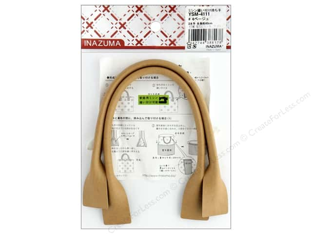 Inazuma Handles Leather Like Machine Sew 16 in.  Beige