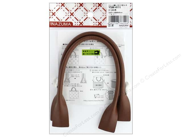 Inazuma Handles Leather Like Machine Sew 16 in.  Brown