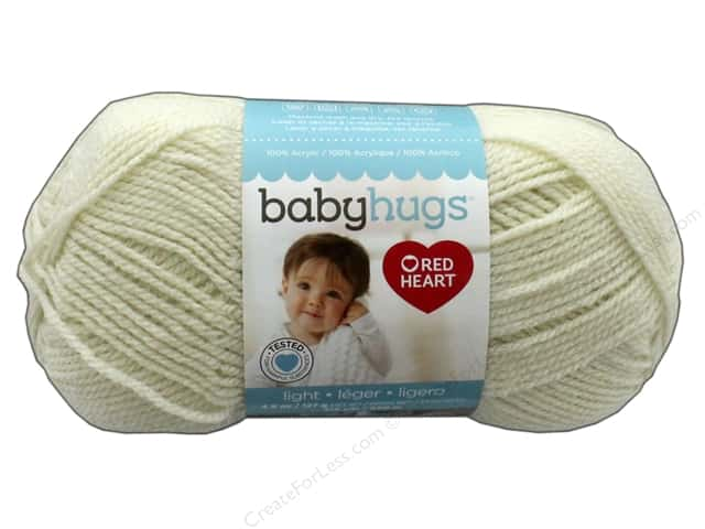 Red Heart Baby Hugs Light Yarn 247 yd. #3303 Shell