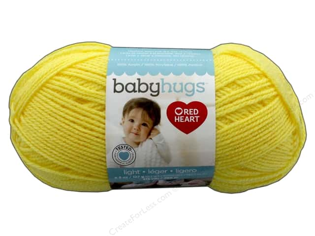 Red Heart Baby Hugs Light Yarn 247 yd. #3201 Sunny