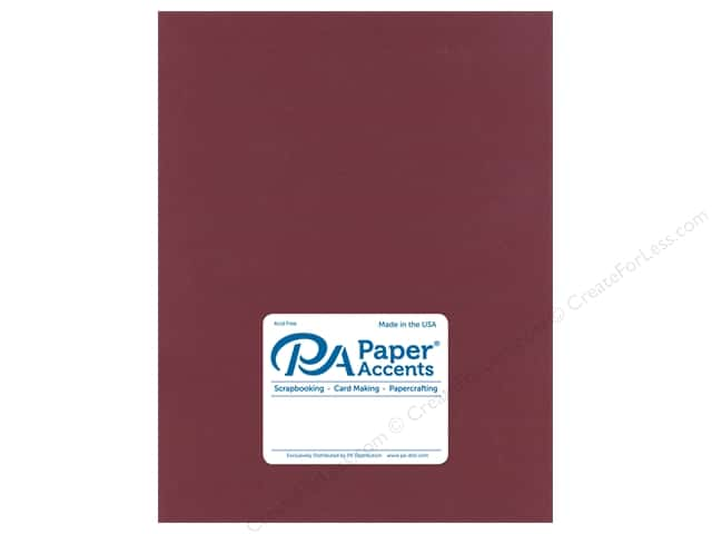 Paper Accents Cardstock 8.5 in. x 11 in. Stash Builder 65 lb Wine (25 sheets)