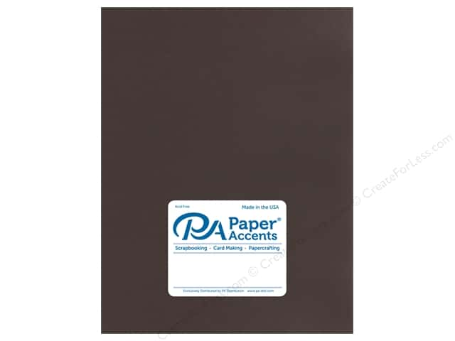 Paper Accents Cardstock 8.5 in. x 11 in. Stash Builder 65 lb Chocolate Brown (25 sheets)