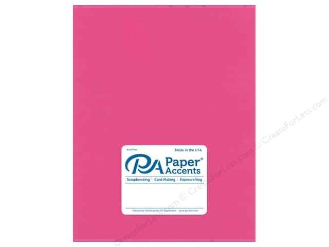 Paper Accents Cardstock 8.5 in. x 11 in. Stash Builder 65 lb Hot Pink (25 sheets)