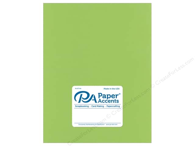 Paper Accents Cardstock 8.5 in. x 11 in.  Stash Builder 65 lb Green Apple (25 sheets)